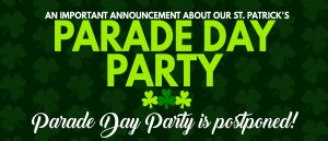 """<font color=""""red"""">POSTPONED</font> St. Patrick's Parade Day Party! @ Scranton Cultural Center at the Masonic Temple 