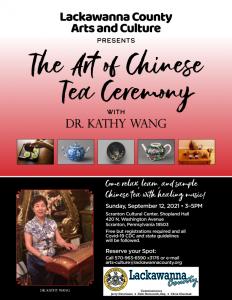 Lackawanna County Arts and Culture: The Art of Chinese Tea Ceremony @ Shopland Hall, 4th Floor, Scranton Cultural Center at the Masonic Temple | Scranton | Pennsylvania | United States